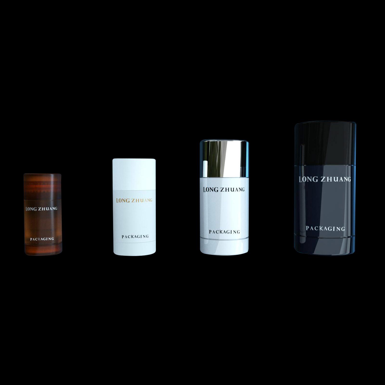 15ml 30ml 50ml 75ml botella de desodorante en barra material SAN para hombre desodorante en barra barra solar máscara en barra